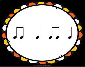 Halloween Picture Rhythms  Quarter/Eighth Notes - PDF/Google Slide/PPT