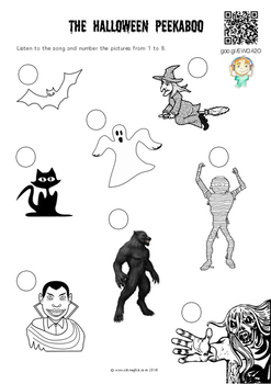 Halloween Picture Sequencing (directly linked to a song)