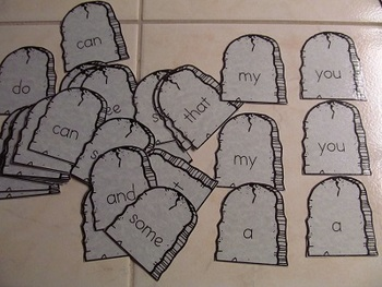 Halloween Picture & Sight Word Memory Game