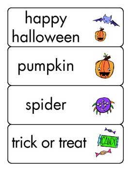 Halloween Picture Sight Words