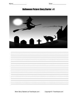 Halloween Picture Story Starter #1 For Primary Grades