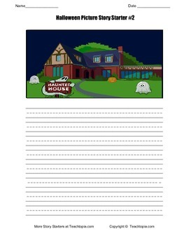 Halloween Picture Story Starter #2 For Primary Grades