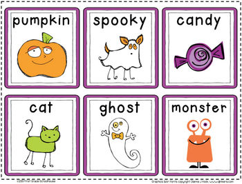 Halloween Picture Word Cards