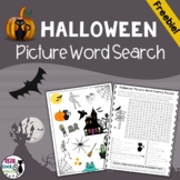 Halloween Picture Word Search Puzzle Freebie