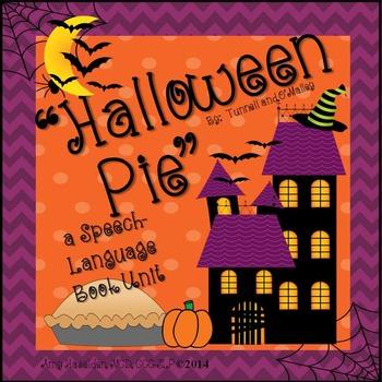 Halloween Activities Speech Therapy Book Companion