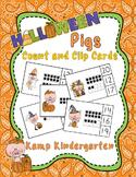 Halloween Pigs Ten Frames Clip Card Math Centers