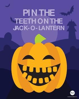 Halloween Party Pin the Teeth on the Pumpkin