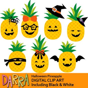 Halloween Pineapple Clip Art