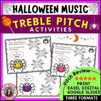 Halloween Music: Treble Pitch Activities