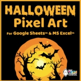 Halloween Pixel Art Mystery Pictures for Google Drive and