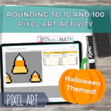 Halloween Pixel Art - Rounding to 10 and 100 Google Sheets