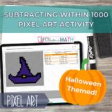 Halloween Pixel Art - Subtracting within 1000 Self Correct
