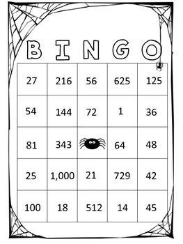 Halloween Place Value Bingo