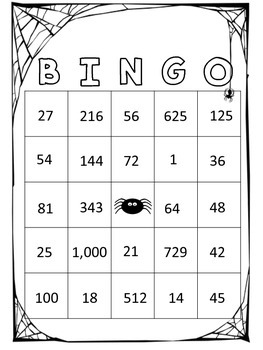 Halloween Place Value Bingo