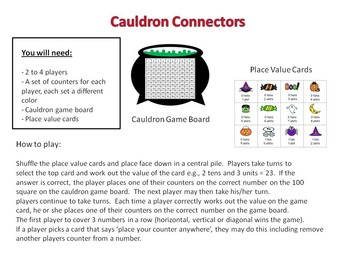 Halloween Place Value Board Game (grades 1 - 2)