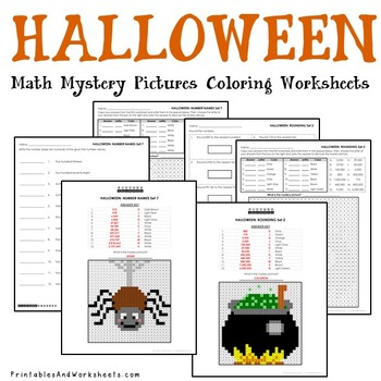 Halloween Place Value Activities Math Coloring Pages