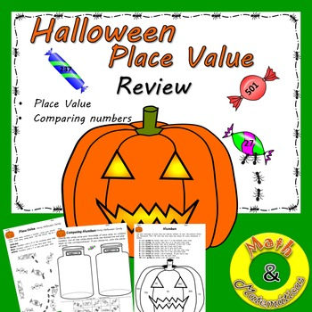 Halloween Place Value Coloring and Sorting activity-Compar