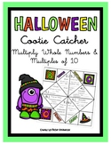 HALLOWEEN Multiply Whole Numbers & Multiples of 10- Cootie Catcher 5th Grade