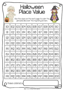 halloween place value freebie by michelle walker tpt. Black Bedroom Furniture Sets. Home Design Ideas