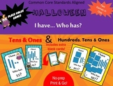 Halloween Place Value - I have Who has - Standard numbers & Base ten blocks