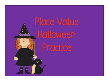 Halloween Place Value Match