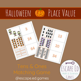HALLOWEEN Place Value Matching Game (Tens & Ones)