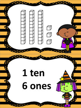 Halloween Place Value Matching Task Cards