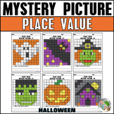 Halloween Mystery Picture Place Value
