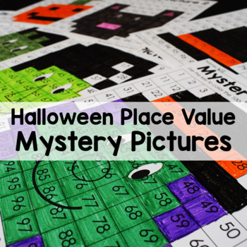 Halloween Color By Number Place Value Mystery Pictures