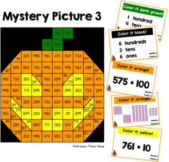 Halloween Place Value Mystery Pictures