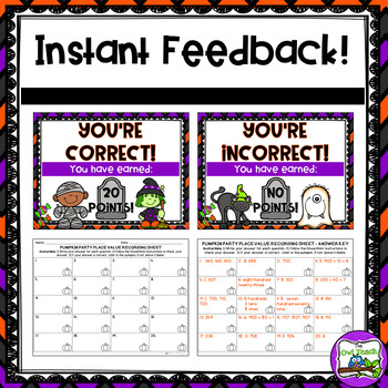 Halloween Place Value:  PowerPoint Game