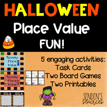 Halloween Place Value Practice Differentiated