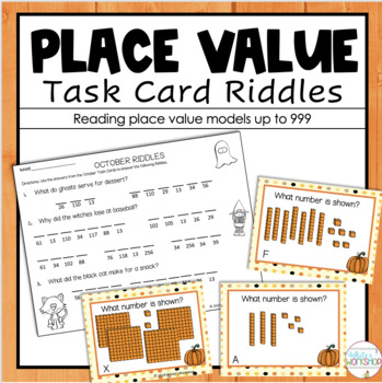 Halloween Place Value Task Cards