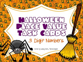 Halloween Place Value Task Cards (Bundle)