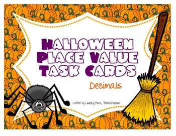 Halloween Place Value Task Cards (Decimals)