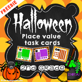 Halloween Place Value Task Cards *FREEBIE*