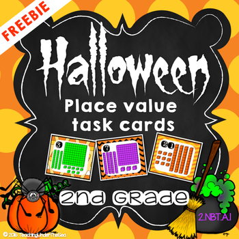 Halloween Place Value Task Cards *FREEBIE*