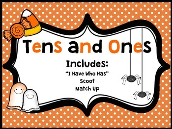 Halloween Place Value Tens and Ones Activities