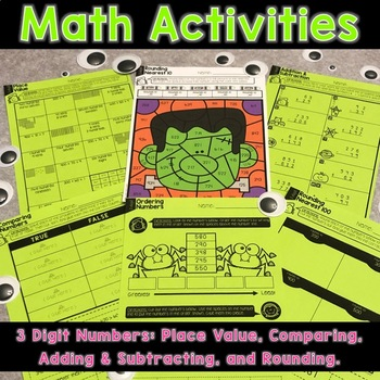 halloween place value and grammar activities by allison french tpt. Black Bedroom Furniture Sets. Home Design Ideas