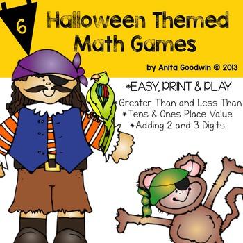 Math Games Halloween Themed