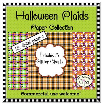 Halloween Plaids Paper Collection