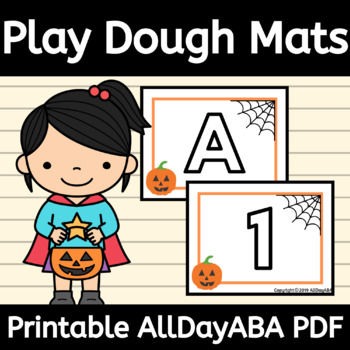 Halloween Play-Doh Mats - Letters and Numbers - by AllDayABA