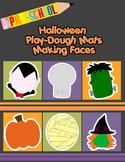 Halloween Play-Dough Mats Making Faces