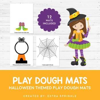 Halloween Play Dough Mats Set of 12