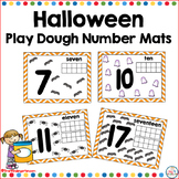 Halloween Play Dough Number Mats 1-20