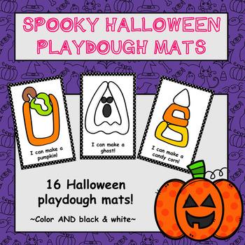 Halloween Playdough Mats - (16 Halloween Playdough Mats!)