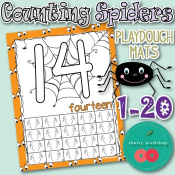 Halloween Play Dough Counting Mats