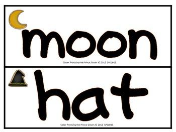 Halloween Playdough Word Cards