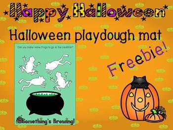 Halloween Playdough mat - freebie!