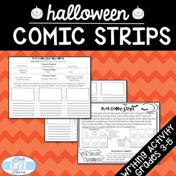 Narrative Writing Plot Comic Strips Halloween Edition